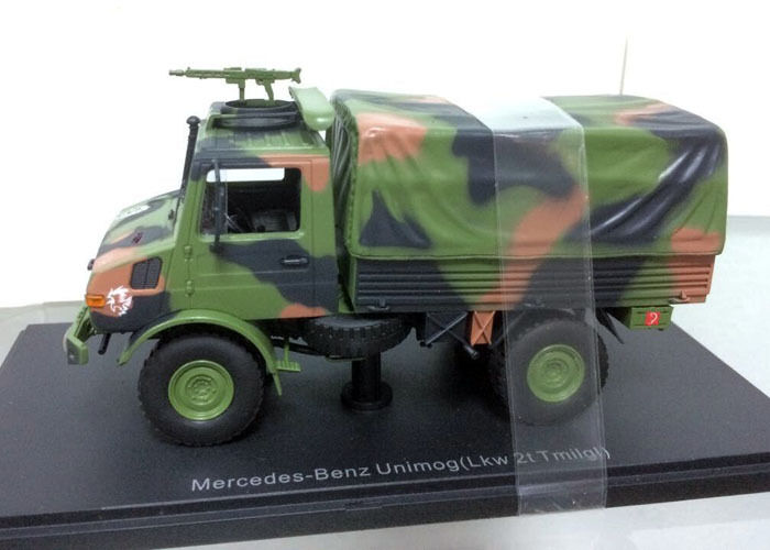 1 43 Escala De Fundición Fundición Fundición Modelo-Mercedes-benz Unimog (Lkw 2t tmilgl) 8418f2
