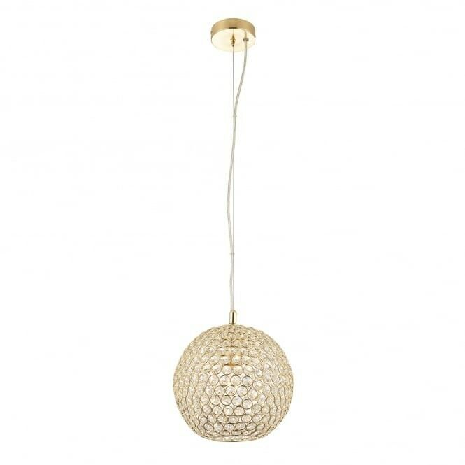 2 no. NEW Claudia Single Ceiling Pendants in Gold Brass - Endon 68991