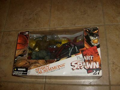 2005 McFARLANE TOYS THE ART OF SPAWN, SPAWN VS AL SIMMONS DELUXE BOXED SET MIB