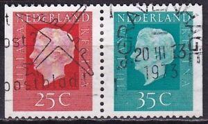 1973 combinatie Kon. Juliana 25 + 35 ct uit PB 13 NVPH C 81 gestempeld -  - Nederland 1973 combinatie Kon. Juliana 25 + 35 ct uit PB 13 NVPH C 81 gestempeld (4.2.17) -