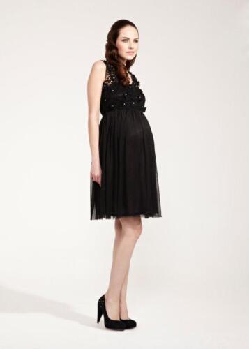 Rock-a-Bye Rosie Delilah Fit /& Flare Maternity Dress Black Size 14