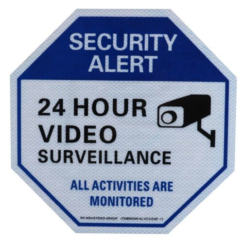 "Legend /""24 Hour Video Surveillance/"" Aluminium Sign RK Video Surveillance Sign"