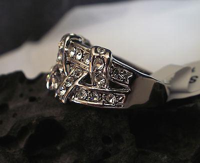 Damen Ring 18 K Weißgold / Platinum plattiert Zirkonia - Schmuck  0601