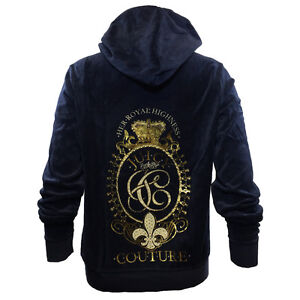 JUICY-COUTURE-Blue-amp-Gold-Zipper-Hoodie-Her-Royal-Highness-Womens-Plus-Size-NEW