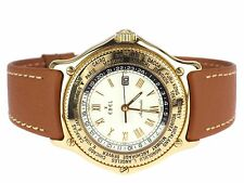 EBEL VOYAGER 8124913 Schweiz 18K 750 Gelb Gold Automatik Herren Armbanduhr 38 mm