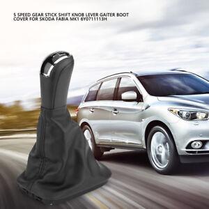 6Y0711113H-Vehicle-5-Speed-Car-Gear-Knob-Gaiter-Shift-Cover-for-Skoda-Fabia-MK1