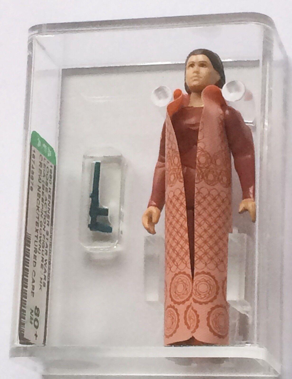 Loose Vintage Star Wars Principessa Leia Bespin GIROCOLLO CON TRAMA Cape AFA 80+ HK