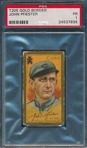 1911 T205 John Pfiester Sweet Caporal PSA 1 *OBGcards*