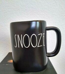 New-Rae-Dunn-By-Magenta-SNOOZE-Farmhouse-Large-Letter-BLACK-Mug