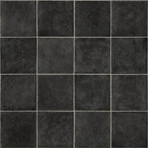 Remarkable Details About New Black Tile Vinyl Flooring Roll Quality Lino Anti Slip Kitchen Bathroom Cheap Beutiful Home Inspiration Aditmahrainfo