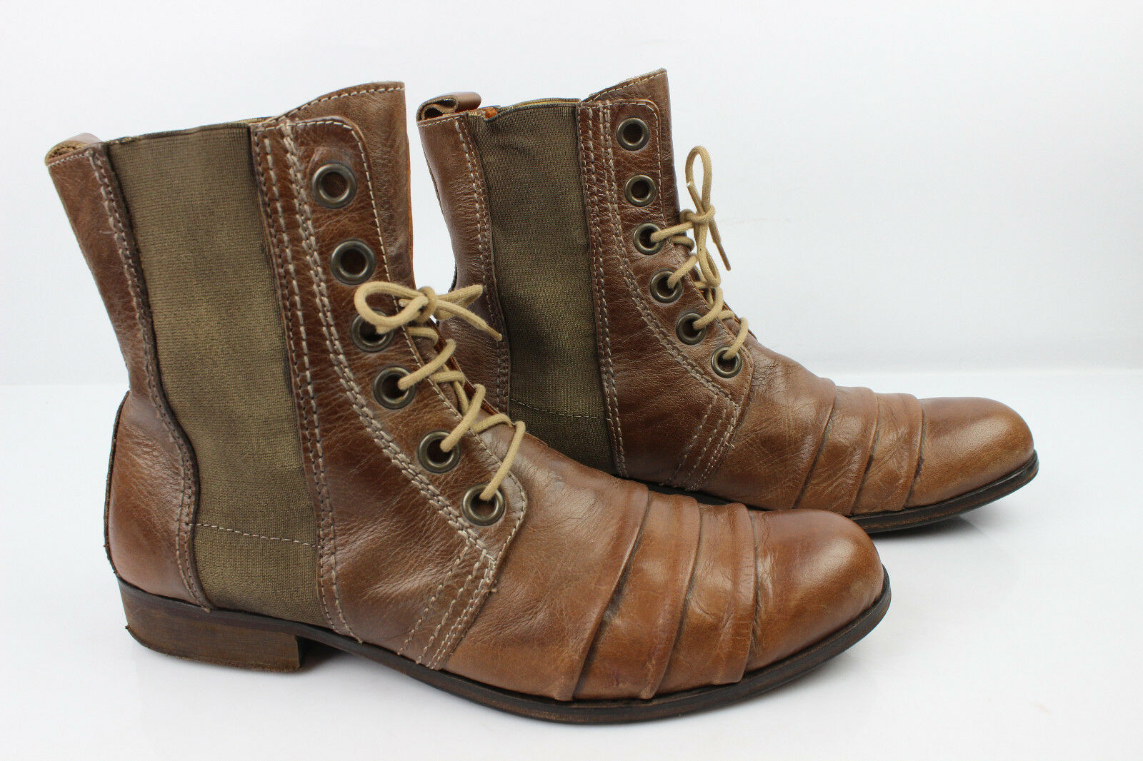 Bottines WE ARE Marron Tout Cuir Marron ARE T 42 Bandes Elastiquées c4b823