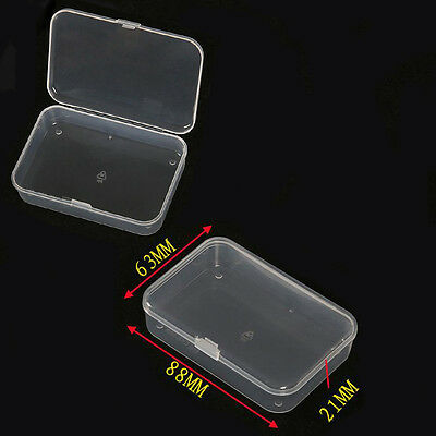 Small Plastic Clear Transparent With Lid Collection Container Case Storage Box