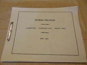 Georgia-Railroad-Locomotives-Passenger-amp-Freight-Cars-May-1952-USA-Excellent