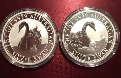 BU direct from Perth Mint roll 2018 /& 2919 Australia Silver Swan 1 oz Coin