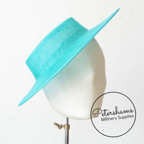 Sombrero de ala endurecidas navegante Fascinator de la pequeña base para sombreros y sombrero haciendo