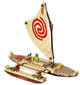 New incomplete lego moana 39 s ocean voyage canoe only no for Moana fishing pole