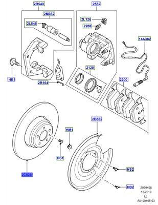 Land Rover Range Rover Rear Disc Brake Rotor SDB000211 Genuine