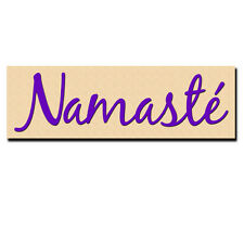Namaste Bumper Sticker. Peace Ohm Om Yoga Mantra Aum. Poly Vinyl Decal Wall Car.