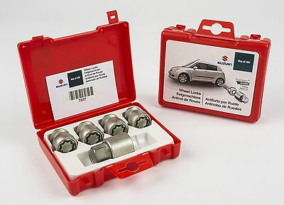 Genuine Suzuki Grand Vitara 5 dr Locking Wheel Bolts Nuts Set x4 990E0-59J47-000