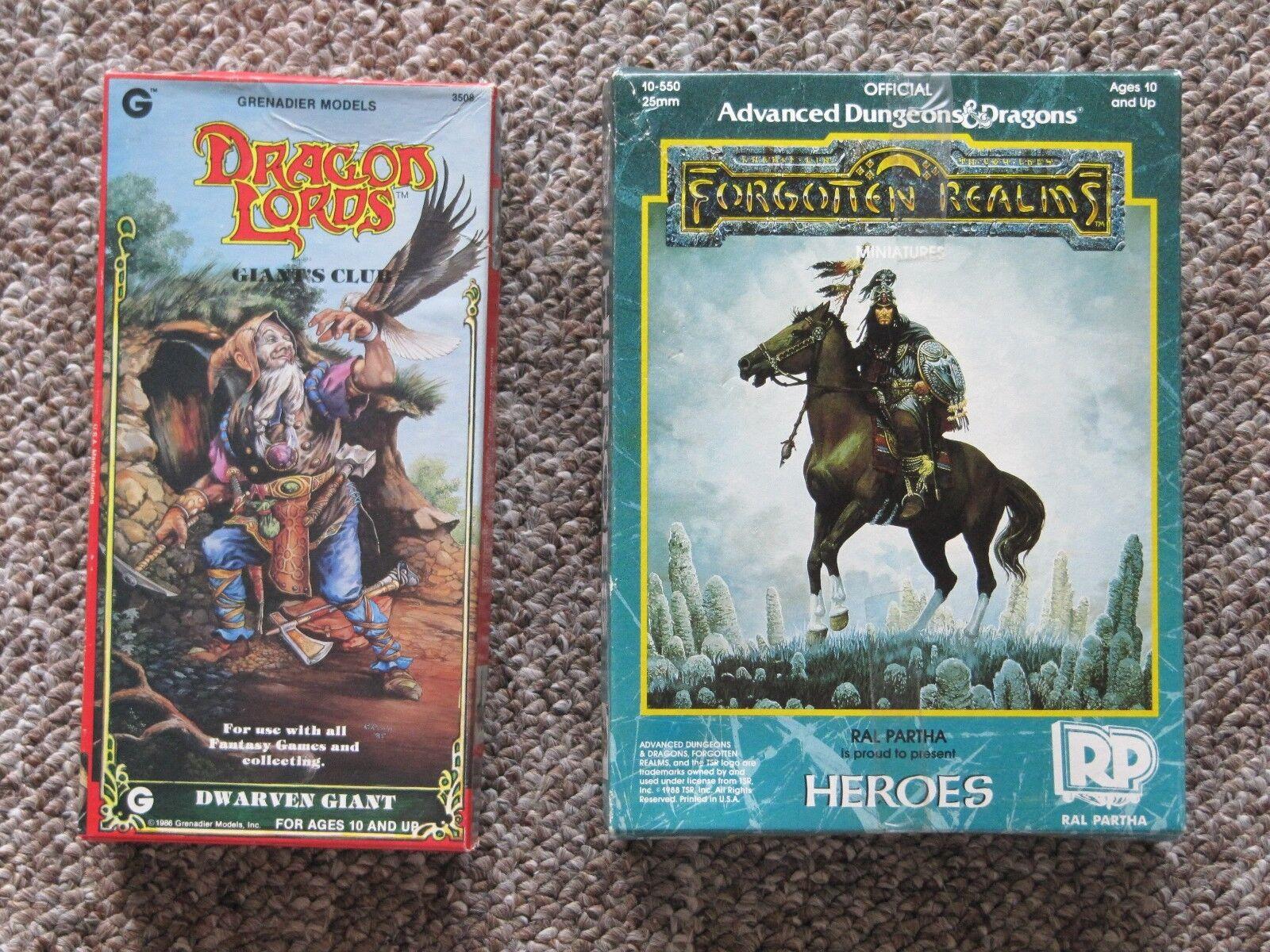 Huge 1980's D & D Warhammer Miniatures Collection. 71 figures