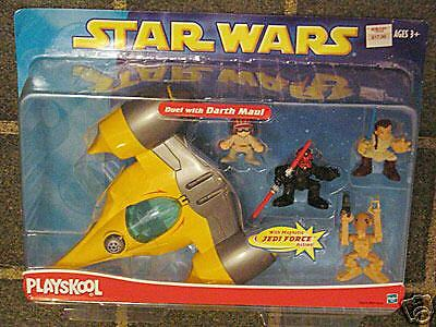 Star Wars Playskool Galactic Heroes Naboo Starfighter Darth Maul -worn pk