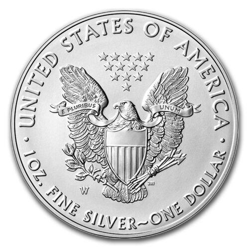 2016-W Burnished Silver American Eagle w//Box /& COA