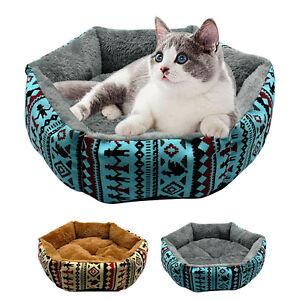 Hundebett-Hundekorb-Katzenbett-Tierbett-Schlafplatz-Hundesofa-Braun-Blau-S-M-L