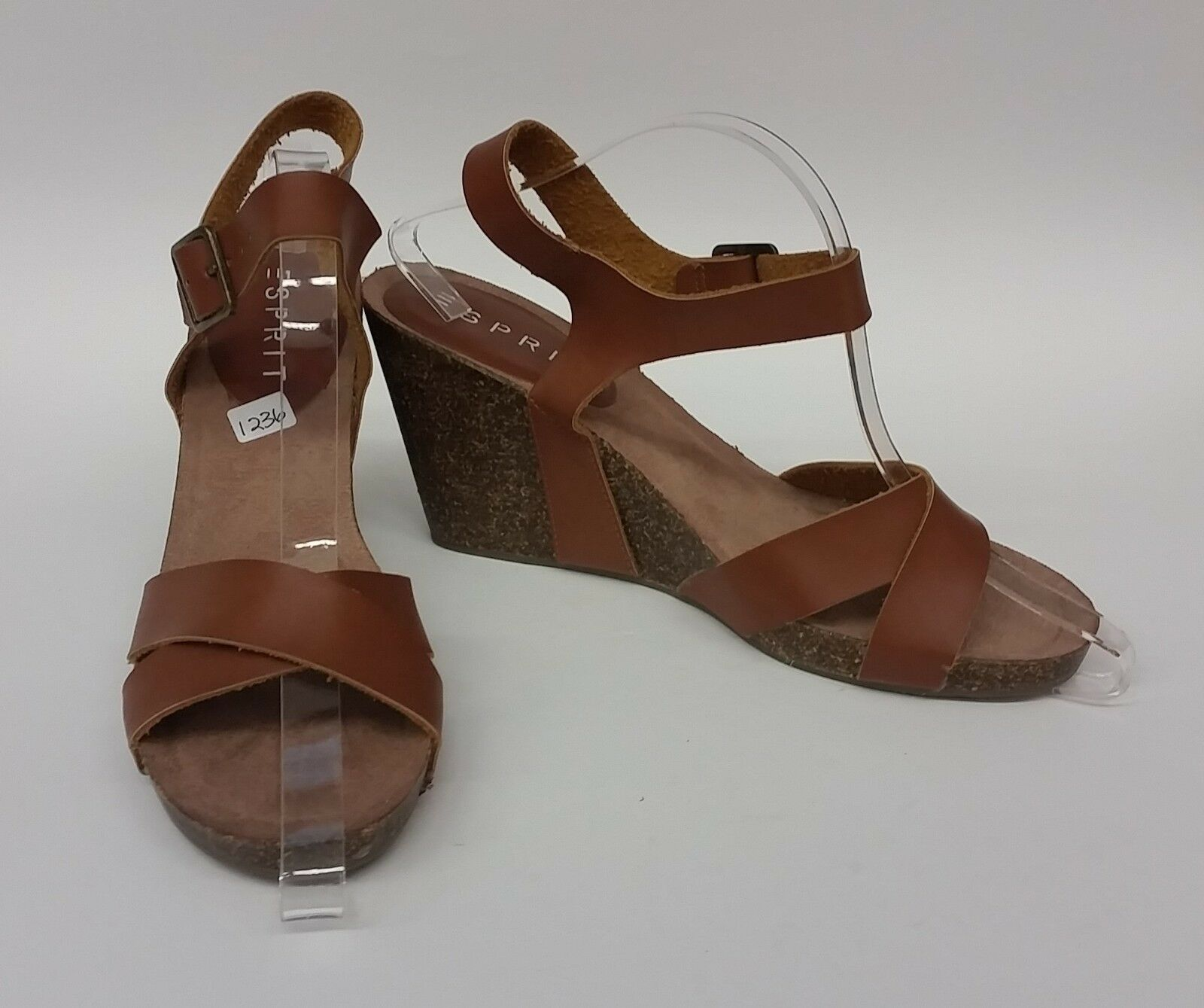 Esprit shoes Sandals Brown Wedges Heels Strappy Helena Womens Size 9 M