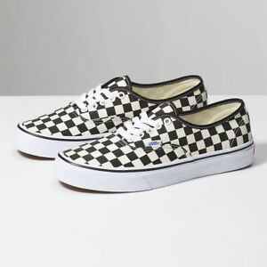 60728927c5bbf3 Image is loading Vans-Authentic-Golden-Coast-Black-Off-White-Checkerboard-