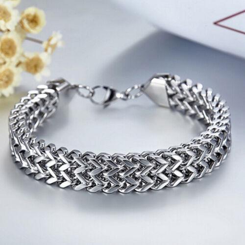 Stainless Steel Cuban Curb Link Chain Bracelet Men Women Hip Hop Jewelry HsFBDC