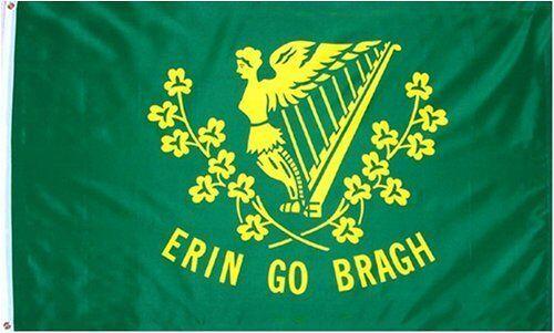 ERIN-GO-BRAGH FLAG OUTDOOR MADE IN USA 100/% NYLON NYL-GLO 2X3 3X5 ANNIN FLAG