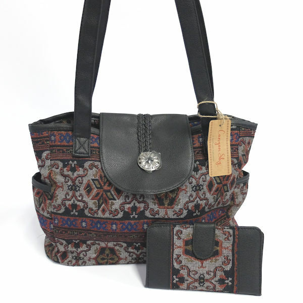 Canyon Sky Women's Jacquard Handbag & Wallet