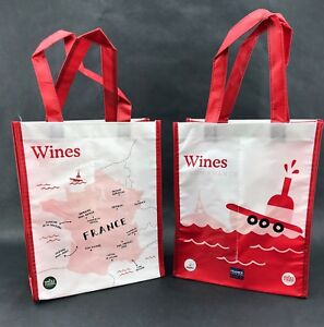 Details About 2 Two Whole Foods Wines From France Reusable Wine Tote Bags New Lot