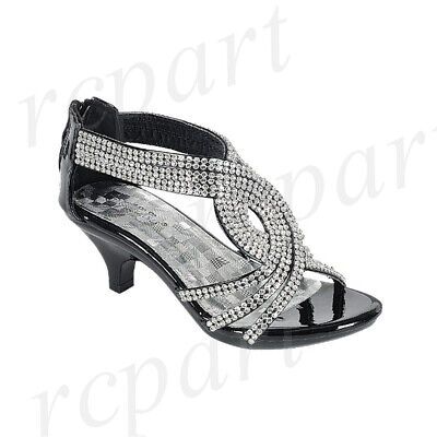 New girl back zipper dress shoes open toe special occasion formal White