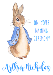 Personalised greetings card beatrix potter peter rabbit on your image is loading personalised greetings card beatrix potter peter rabbit on m4hsunfo
