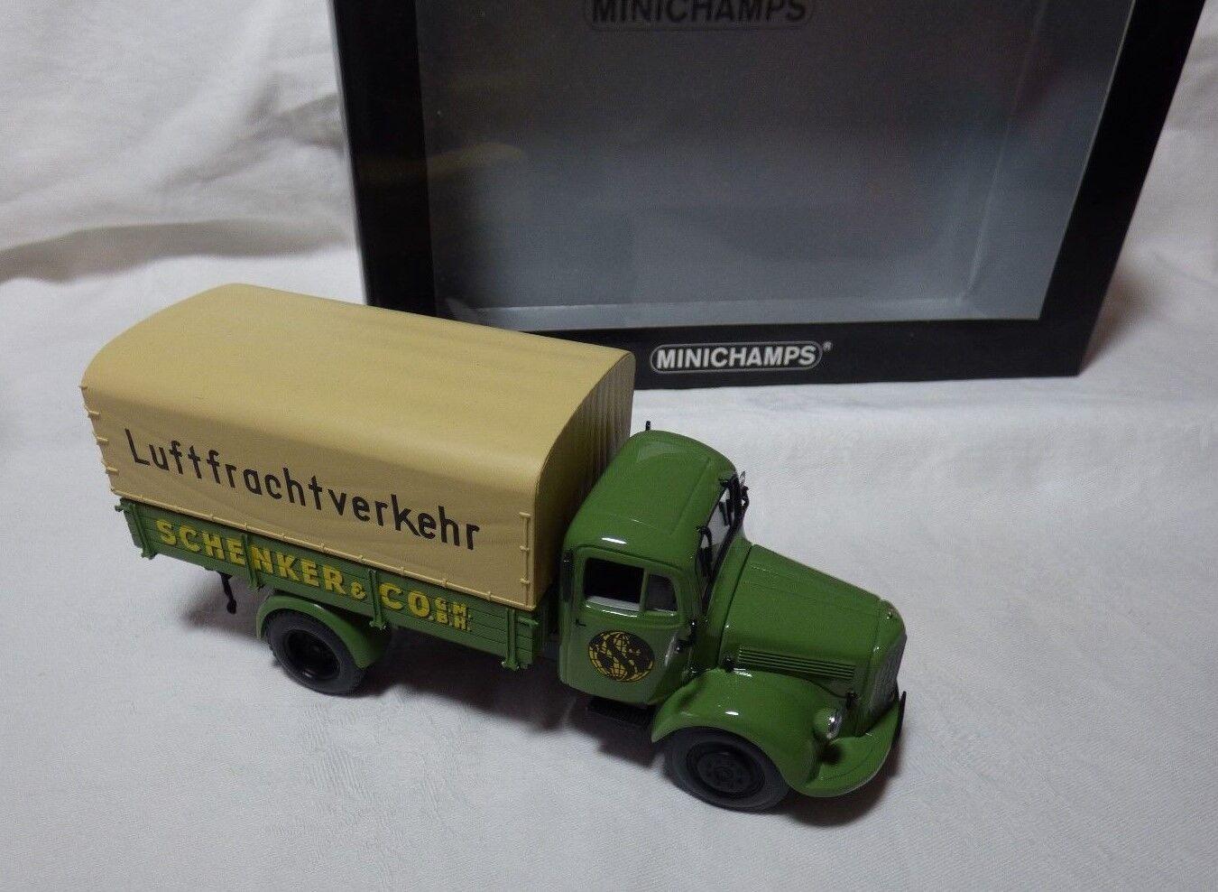 MINICHAMPS Pauls modèle type 439350028 Mo l3500 carrosserie Schenker neuf dans sa boîte