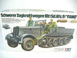 Tamiya-1-35-German-18-Ton-HEAVY-HALF-TRACK-FAMO-Tank-Display-Kit-35239
