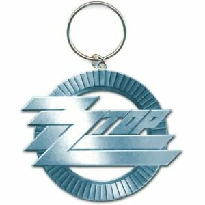 ZZ-Top-Circle-Logo-Schluesselanhaenger-Keychain-Official-Merchandise-NEU