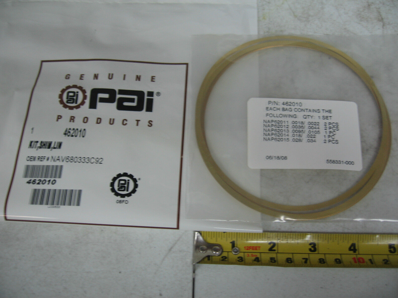 89J88 Shim Liner .003 Pack of 10 Part No