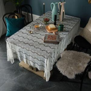En-dentelle-vintage-Table-Nappe-Nappe-salle-a-manger-Tassel-fete-de-mariage-Cover-Home-Decor