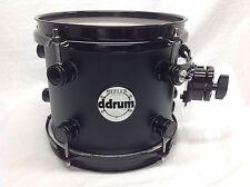 "Ddrum Reflex 8"" Diameter Mounted Tom/Alder Shell/Black Satin/NEW"