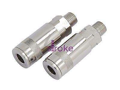 Business & Industrial Persevering Air Line Hose Connector Fitting Male Quick Release 1/4 Inch Bsp Male 2pk