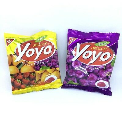 20G.x 2 YoYo Gummy Jelly Candy Grape Assorted Fruit Flavour Snack