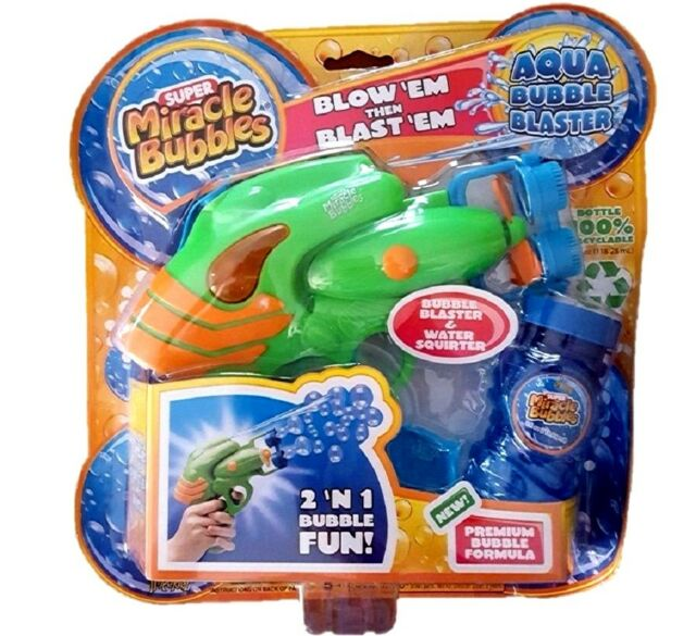 Aqua Bubble Blaster & Water Squirter 2 in 1 Gun Blower - Super Miracle Bubbles