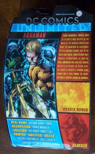 DC COMICS UNLIMITED AQUAMAN ACTION FIGURE NEW ON CARD MATTEL 2013 6 INCHES
