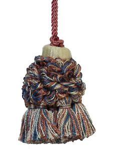 "Conso Empress 21950 W96 CAMEL BROWN BLUE TERRACOTTA 2/"" Decorative Key Tassel"