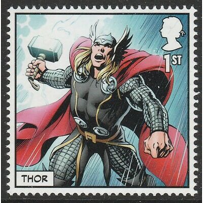 UK MARVEL Thor single (1 stamp) MNH 2019 after March 31