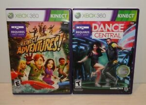 XBOX-360-Kinect-Game-Lot-TESTED-WORKING-Dance-Central-amp-Kinect-Adventures
