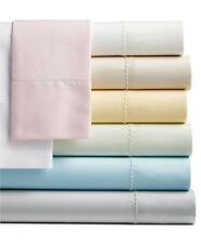 MARTHA STEWART White 100 Cotton 400TC TWIN XL FITTED SHEET for