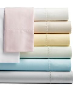 Martha Stewart TWIN XL Fitted Sheet Solid Open Stock 400 TC White